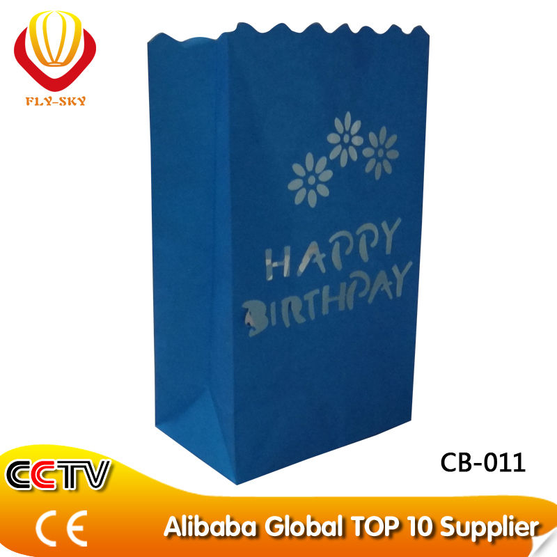 2014 wholesale luminary cute paper gift candle bags for decoration