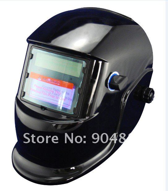 Sent by DHL 1pcs  Solar auto darkening welder helmet+1 pcs Evan style fire retardant welding cloth free shipping