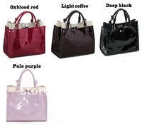 Сумка через плечо 2012Hot sale! Simple atmospheric leather handbag female bag all the paint and retail