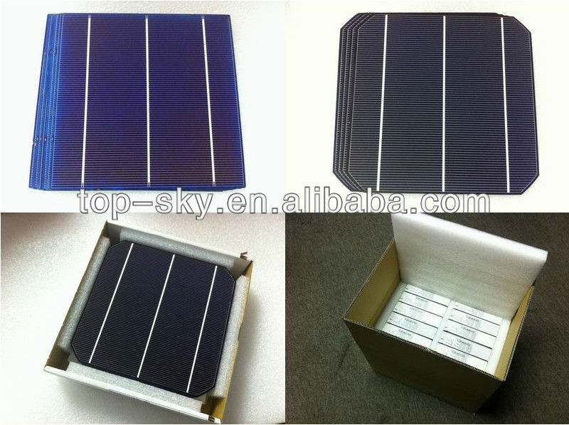 High efficieny 3BB 156mm*156mm/6inch mono solar cells for solar panel plant with Taiwan Brand,bulk of goods are available
