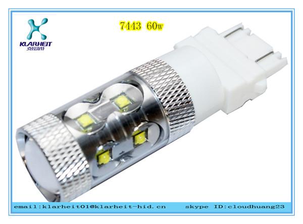 60W 7443 car SMD white brake led light