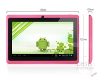Мобильный телефон 7 inch Allwinner A23 Tablet 7 Touch Screen Capacitive Dual core WIFI OTG External 3G 512MB mini Cheap Android 4.2 Tablet PC Q88