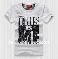Мужская футболка men 100% cotton printed short-sleeve T shirt 3d t-shirt rock casual high street this is me binni couple Tshirt