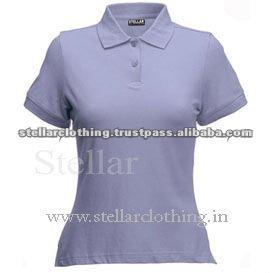 100% cotton Womens polo t-shirt - Lilac.jpg