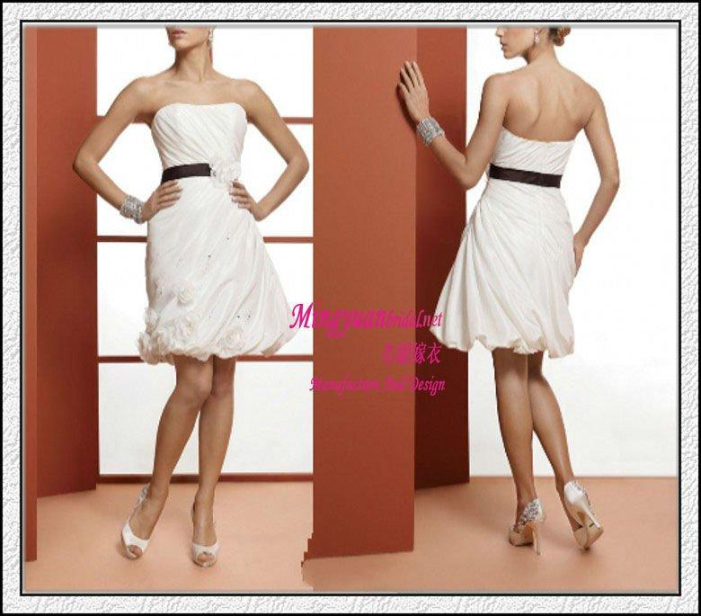 Колено краткое свадебное платье