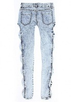 Женские джинсы East Knitting Free LJ-099 Classical Vintage Detailed Woman Side Bow Cutout Ripped Denim Sexy Jeans Jeggings Trousers