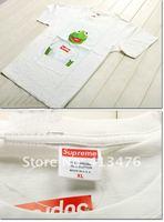 HOT USA brand SUPREME men's Short sleeve streetwear  t-shirt men's tee  big  Frog  logo