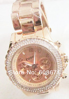 Наручные часы fashion watch women watch japan movt+diamond watch, rose