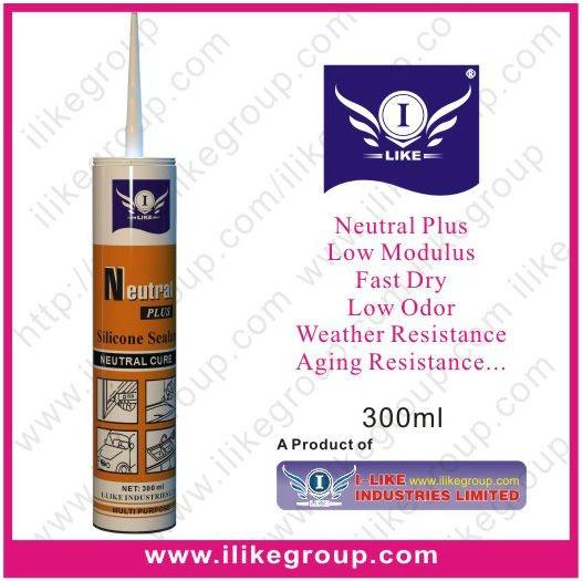 i-like weatherproof construction neutral silicone sealant