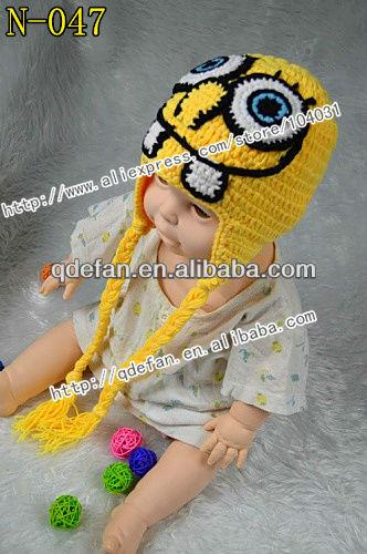 Lovely Crochet Spongebob Squarepants Inspired Beaniehat Handmade