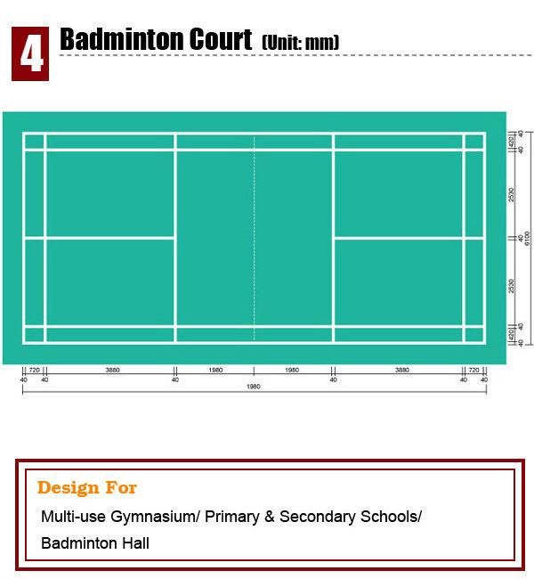 professional badminton pvc sport flooring mat