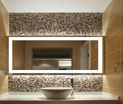 Bagno moderno grande parete a specchio con luce a led specchio del ...