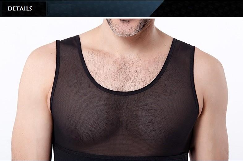2014 real mens slimming abdomen Жилет body shaper  compression girdle shapewear underwear tank Верх Рукавless shirt Жилетs gilet