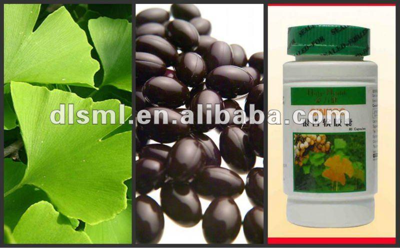 100% Herbal ginkgo biloba extract softgel