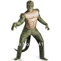 Маскарадный костюм The Amazing Spiderman Movie-Lizard Deluxe Muscle Costume mascot cosplay carnival halloween party costume adult-JCDM0039