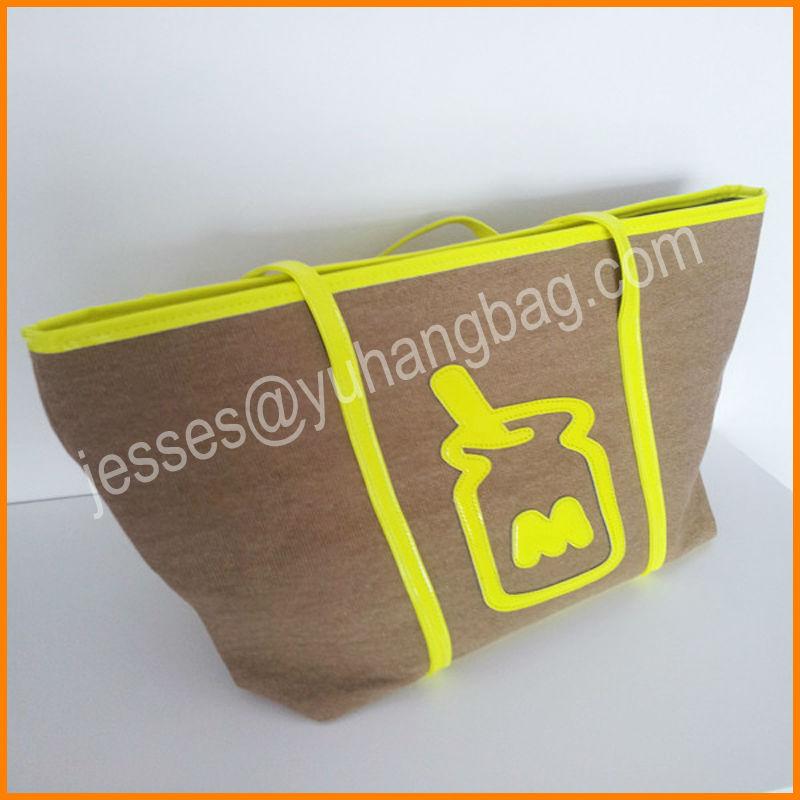 New design eco-friendly canvas colourful ladies fashion bags