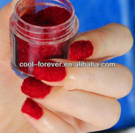 New and Fashion Velvet Powder Nail Art Decoration