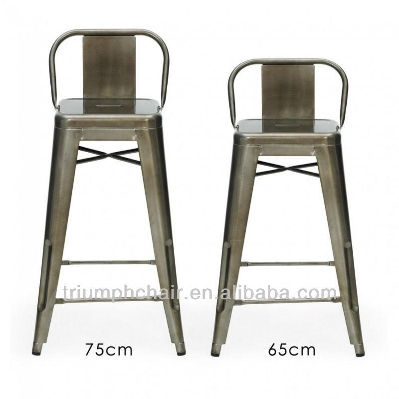 Metal stool with backrest tolix marais low back bar stool gavanized metal stool - Tolix marais counter stool ...
