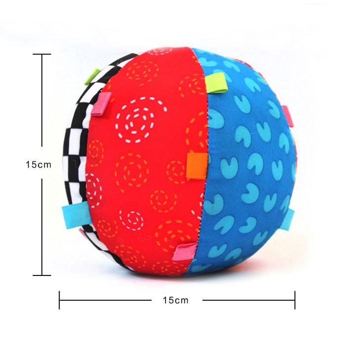 משלוח חינם, צבעוני התינוק ילדים צלצול פעמון כדור צעצוע התינוק הכדור, החינוך כותנה בל הכדור צעצועים HT204