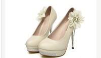 элегантная дама позолоченная водонепроницаемый цветы каблуки сексуальный каблуках уютная обувь