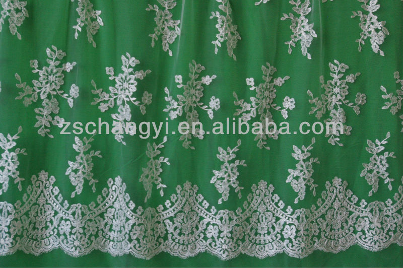 Customize beautiful embroidery lace curtain