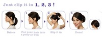 Шиньон Black Apple Dome Hair Bun Bottom pigtail bun Good quality