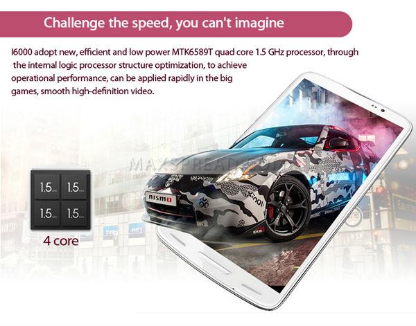Original Inew i6000 mtk6589t quad core 1GB RAM 16GB ROM dual sim dual camera 1920*1080 android phone quad core 6 inch