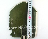 Free shipping offer tracking number Military Camp Survival Folding Shovel Multi-Use exploit w/ ruler manganese steel