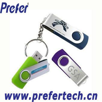 Cheapest! Promotional Swivel USB Pen Drive Genuine Capacity PassedQuality Test HighSpeed Logo Printed Swivel USB Memory Drive