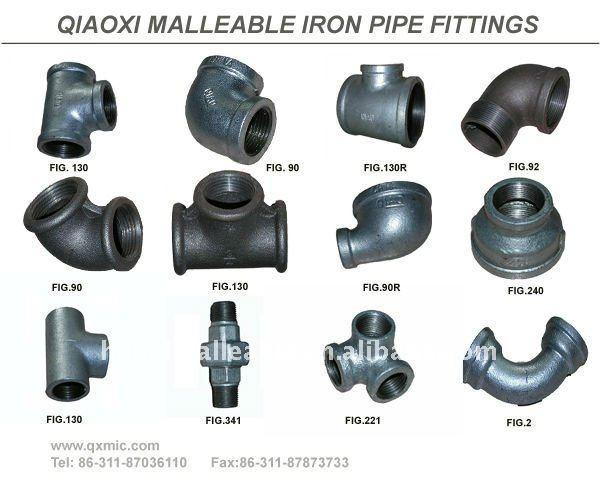 Galvanized malleable cast iron pipe fitting hexagon nipple