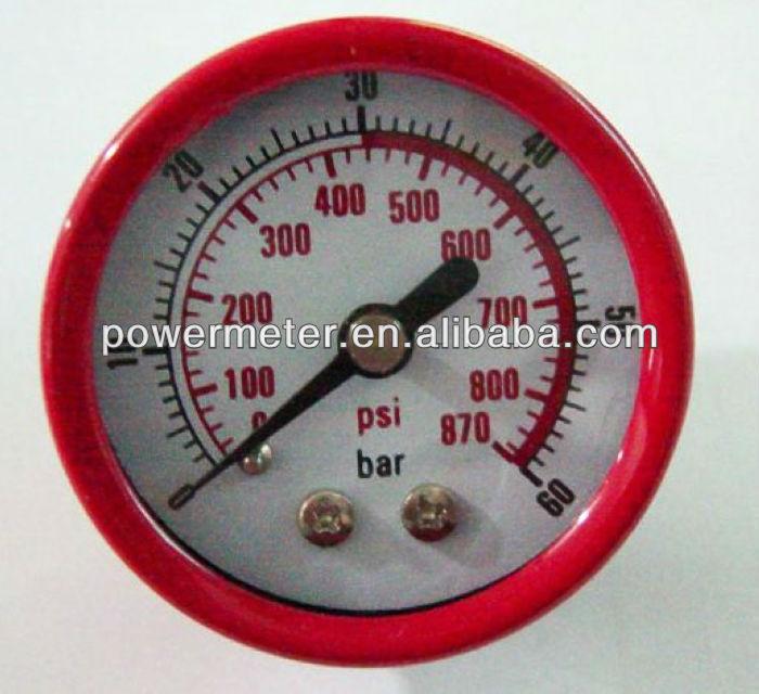 ( y40-- z) 40mm الأحمر الفولاذ أنبوب بوردون القضية قياس ضغط الهواء نوع العامة