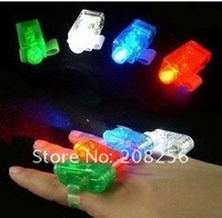 Wholesale-dazzle colour finger lamp light magic hand ring lights glowing phantom creative toy present