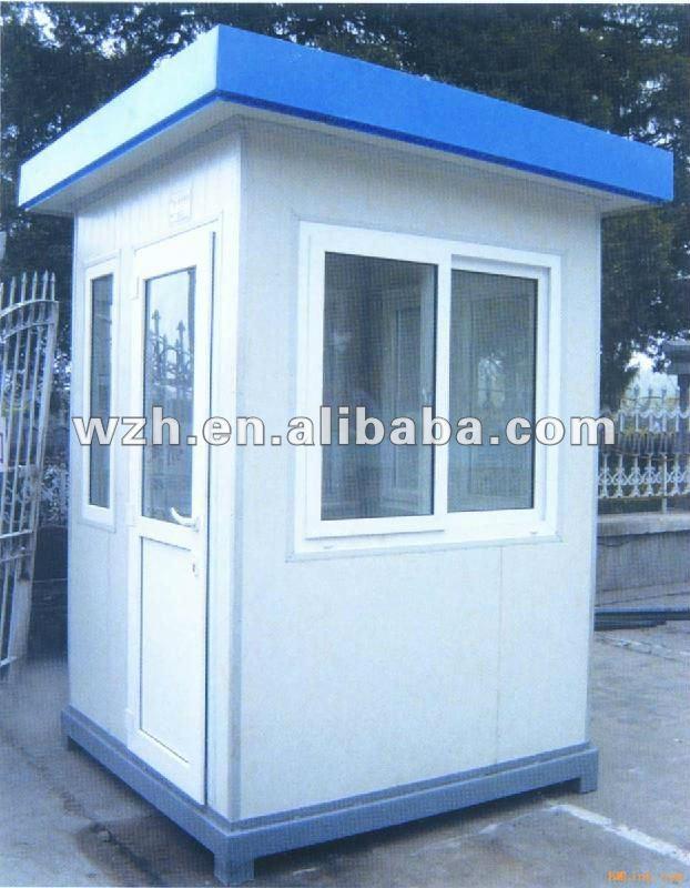 Simple Design Flat Roof 12m2 Prefab Kiosk House Guard Room