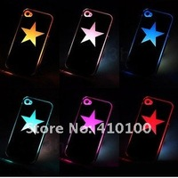 Чехол для для мобильных телефонов NEW Sense Flash light star kitty Case Cover for power charge LED LCD Color Changed Cover For iPhone 5G LED light
