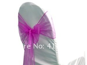 Organza chair sash\Chair bow Free shipping for many kinds of chair covers