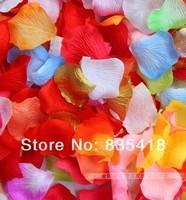 Лепестки роз 10x Rose Flower Petals Leaves Wedding Table Decorations