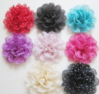 Free shipping wholesale chiffon flower mixture colours