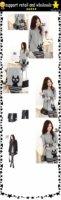 woolen round collar knitwear,weave sweater, women clothes, christmas women lovely deer long sweater (LD-99034-1)