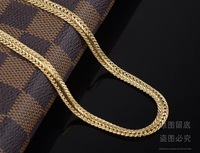 Колье-цепь 60cm long 18k GP gold plated Chains For Men Fashion Men's Jewery Items new High Qualtiy