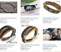 Кожаный браслет Fashion leather cuff, leather bangle, mens jewelry, real leather quality