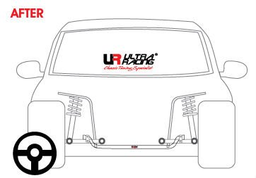 ULTRA RACING 19MM REAR ANTI ROLL BAR SWAY BAR FOR MERCEDES BENZ W201 190E C-CLASS