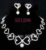 Ювелирный набор shining jewelry set for bride, rhinestone tessels as drops