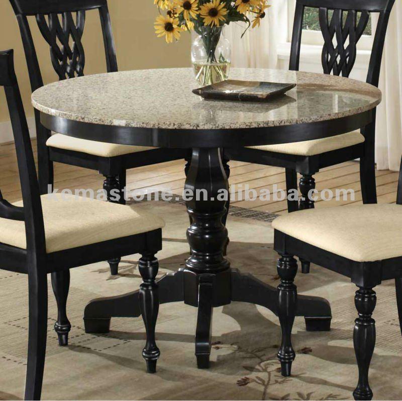 Tampo em granito mesa de jantar redonda tampos de mesas - Mesa de granito ...