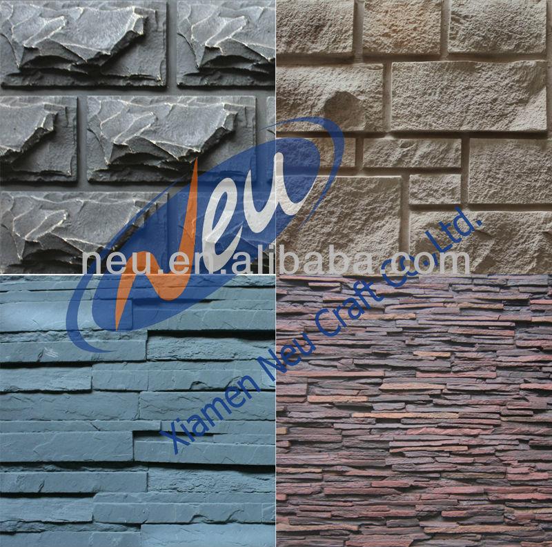 PU Brick Wall Light Colors New Design Inside Stone Panel