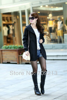 новые desigual женские длинный рукав случайные с капюшоном пальто тонкий зимой долго ветровки Пальто для женщин