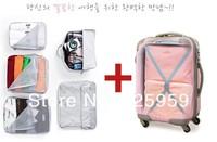 Детали и Аксессуары для сумок 5 Piece coloth home storage organizer set bag for Traveling Bags in Bag Fashion Nylon Organizer Bag Set CCH013