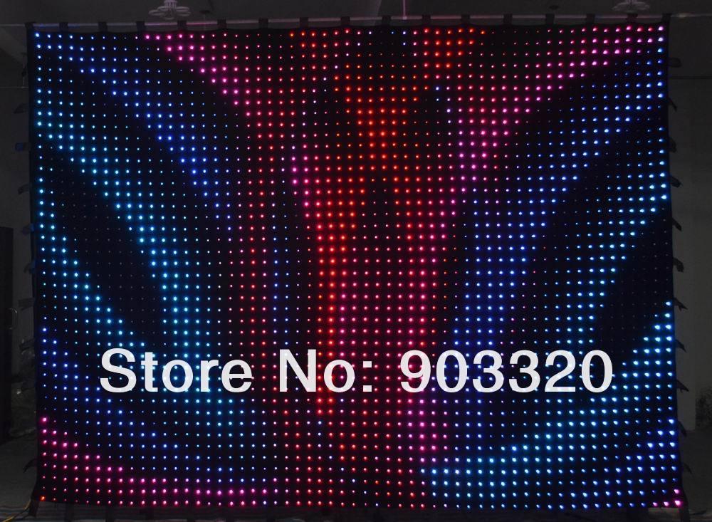 Купить Низкая цена за RGB 3in1 P10 2 м * 4 м 22 * 40 = 800 светод. из светодиодов видение занавес, Из светодиодов для DJ свадебные декорации, Событие, Ночной клуб