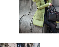 Женские пуховики, Куртки New Winter Women's Luxury Fur Collar Slim Long Section Slim Down Coat With Hooded Waist Belt Down Jacket Fashion Overc