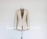 Женский брючный костюм 2012 new spring women fashion suit, brand design leopard lining one botton lady jacket, woman spring leisure suit