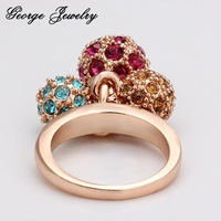 Кольцо GS18KRGPR014/Valentine's day 18k gold ring Color solid ball fashion italina jewelry